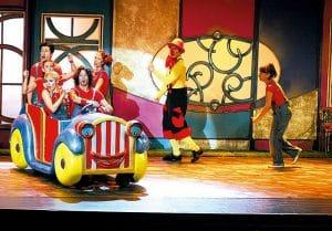 Momento de una actuación del grupo Cantajuegos