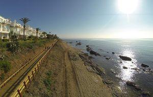 paseo por el litoral malagueño, sendero fácil