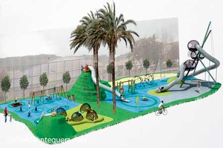 Mapa del parque donde se recrean cada tobogán, atracción, actividad del parque
