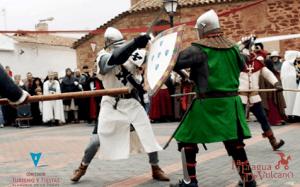 Actuación y representación de caballeros medievales