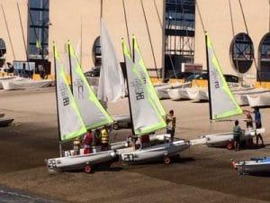 Actividades de vela en le Puerto Sherry, competición de vela y aprendizaje de inglés