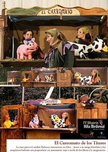 Divertida representación de teatrillo y cuenta cuentos con marionetas.