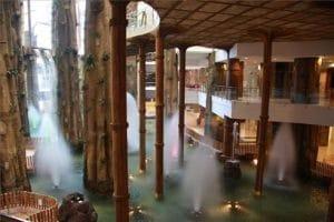 Hotel en la zona de benalmadena ambientado y decorado con plantas y paisajes de las islas Polynesia. Para la diversión y disfrute de toda la familia