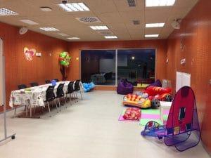 una de las instalaciones y zonas de juego, ocio, aprendizaje de la ludoteca La Pioteca