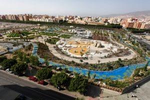 vista aérea del parque las familias, donde disfruta la familia al completo, desde un paseo, practicar deporte, o zonas infantiles