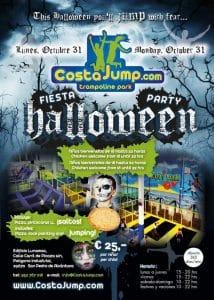 espeluznante y divertida fiesta de halloween en costajump....saltos y diversión sin parar