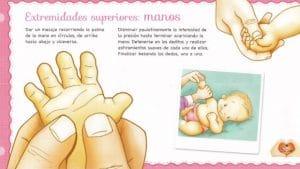 uno de los puntos de un masaje infantil pasa desde la cabeza, barriguita, manos, pies, espalda.....para que estén relajados