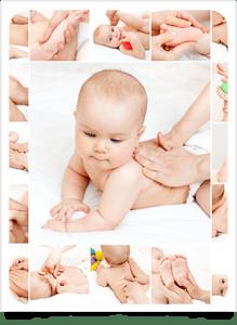 los masajes estimulan al bebé y ayudan a los padres a conocerlo mejor