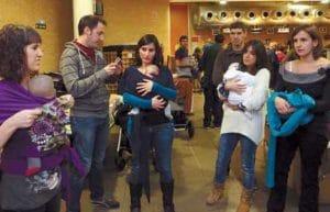 taller para aprender a portar al bebé antes y después del embarazo