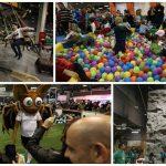 Diversión en la feria navideña en ExpoJove 2016 en Valencia.