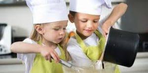 los peques se sumergirán de pleno en la cocina aprendiendo diferentes técnicas