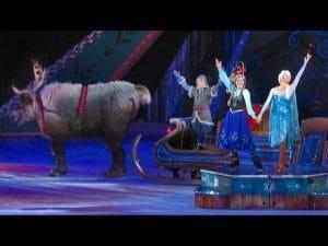 En Disney on ice aparecen los personajes de la famosa película Frozen