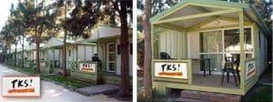 campamento en Camping Paloma con bungalows privados