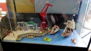 vista general del museo marítimo dónde se expone los clicks de playmobil