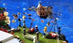 fascinante exposición con todo tipo de detalles hechos con clicks de playmobil