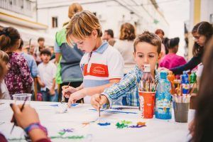 talleres y actividades para los más peques durante el Helado Solidario