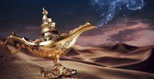 Lámpara con un mágico secreto que cambiará la vida del pobre Alhadino