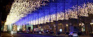 programación navideña del encendido de luces de la ciudad, abetos, cadenetas, etc.