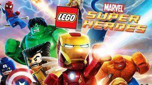 Área LEGO con los superheroes de los más pequeños