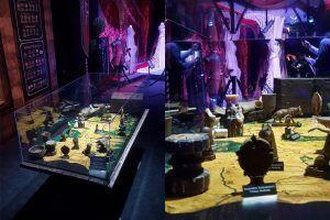 mesa de mapas de las grandes batallas de Juego de Tronos