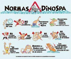 normas de seguridad y prohibiciones para un total disfrute de Dinospa