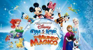 un gran espectáculo en pista de hielo con personajes de la factoría Disney