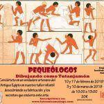 Cursos y Talleres infantiles de pequeólogos y dibujos de TutanJamón en Málaga.