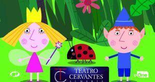 Espectáculo infantil de los pequeños Ben y Holly, duende y princesa hada
