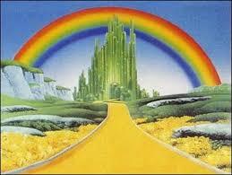 camino de baldosas amarillas, camino que les llevará hasta el mago de Oz