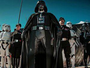 disfrutar de la presencia de Darth Vader durante el desfile de Star Wars