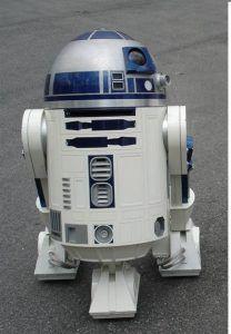 disfrutar de la presencia de R2 kt durante el desfile de Star Wars
