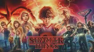 personajes de la serie Stranger Things,, Eleven con sus nuevos amigos en la búsqueda de Will