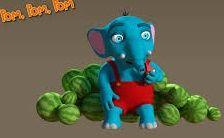 Elefante Pom-Pom de la Pandilla de Drilo