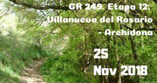 Ruta de senderismo desde Villanueva del Rosario hasta Archidona.