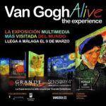 Van Gogh Alive en la exposición itinerante en Málaga.