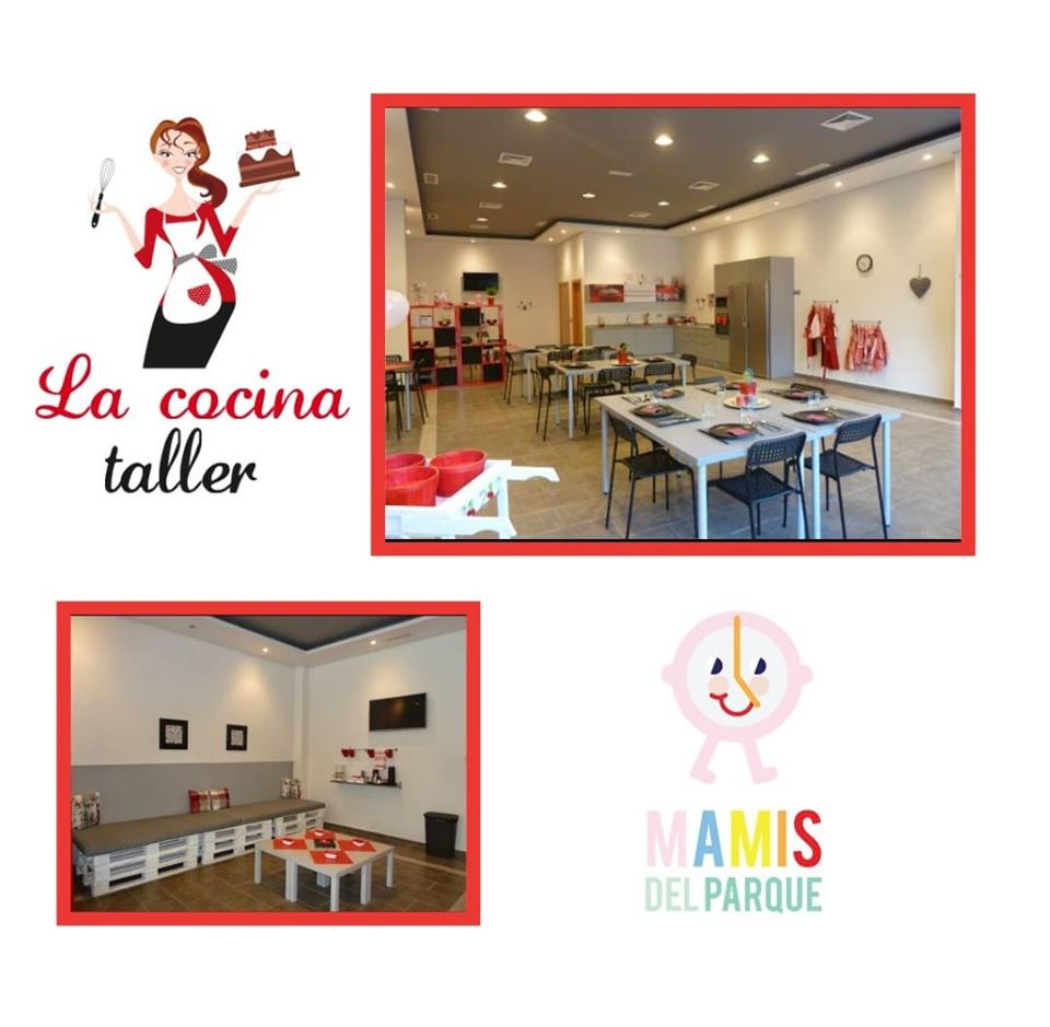 taller de cocina, uno se los tres talleres que realizan las mamis del parque, junto al taller sensorial y de pintura