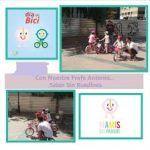 Taller Urban Bicycle, taller en familia para aprender en montar en bici en Málaga.
