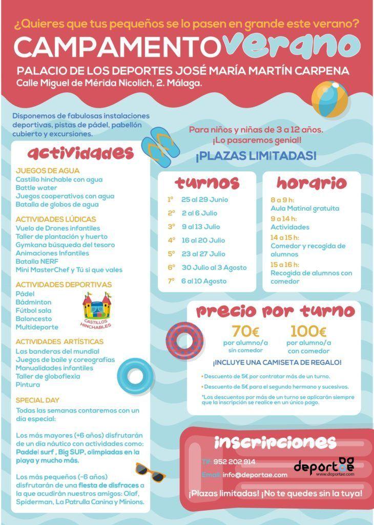 campamento infantil de verano con actividades varias para todas las edades