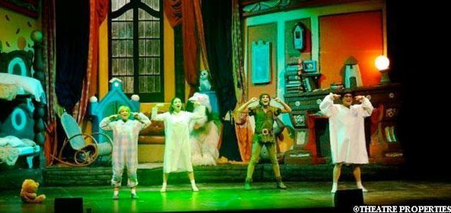 las aventuras de Peter Pan acompañado de sus amigos, Wendy, el pequeño hada Campanillas,