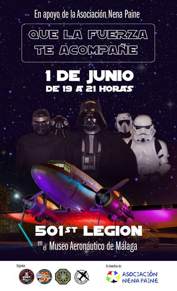 desfile de la legion 501 de Star Wars en el Museo Aeronáutico