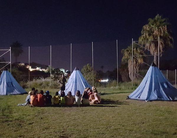 disfrutar de la acampada al aire libre