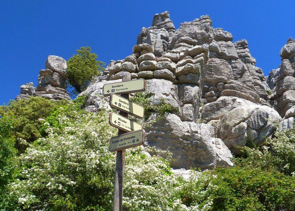 rutas por el Torcal señalizadas según la dificultad de la ruta