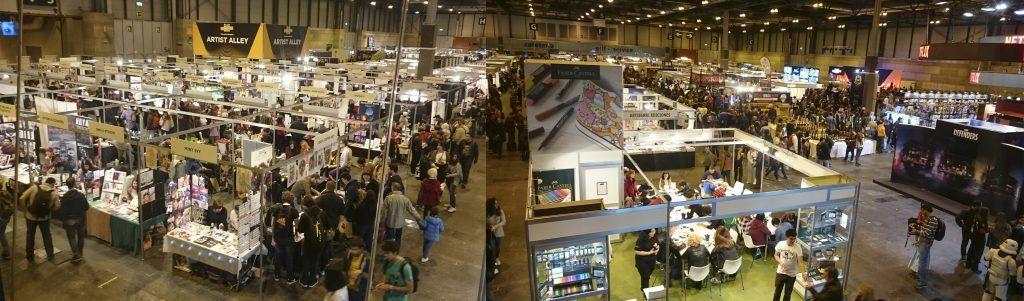 zona de exposiciones, firmas de cómic, compra de artículos, y mucho más durante la Héroes Cómic con