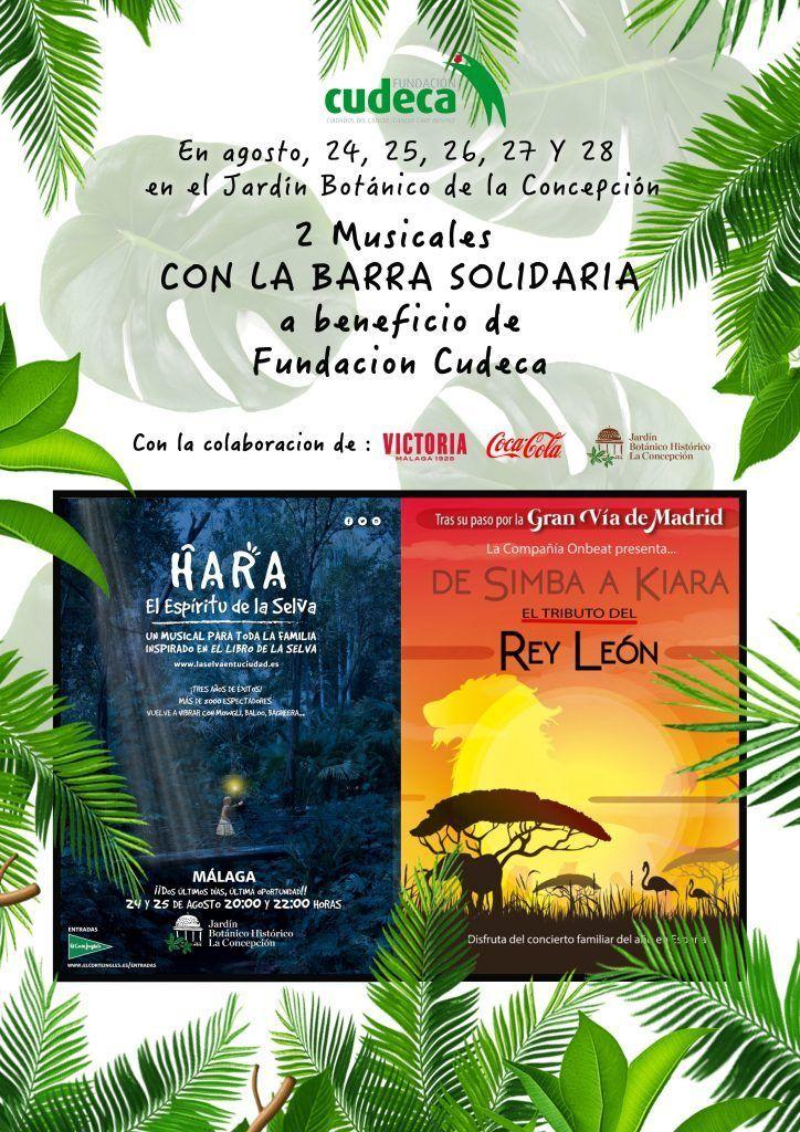 actuaciones en el Jardín Botánico con el respaldo y la organización de la Funcación Cudeca