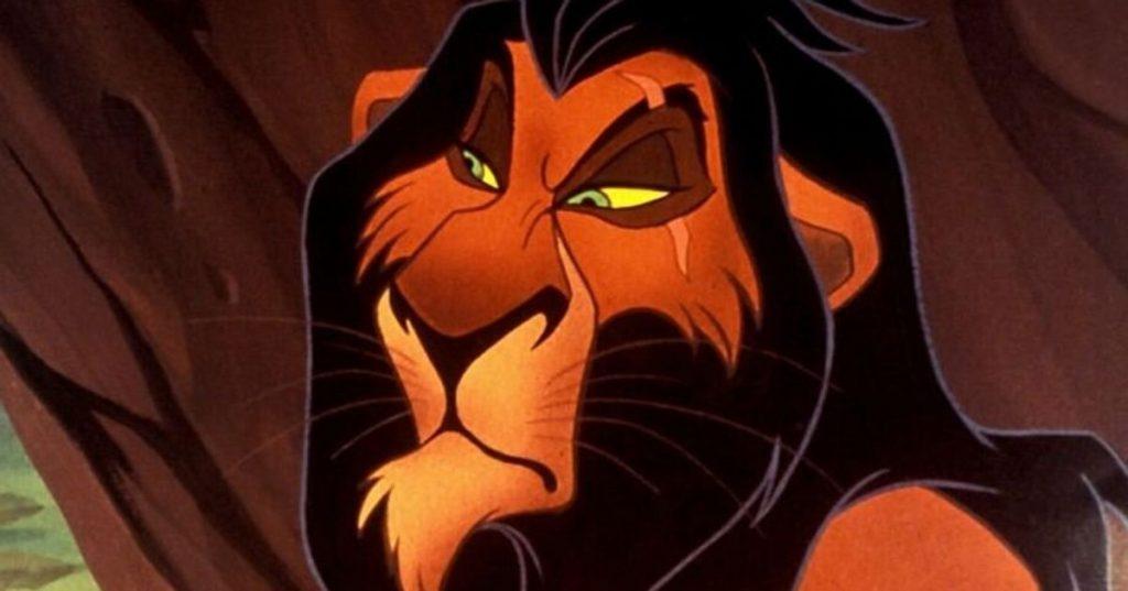 Scar, hermano del rey león, un tipo astuto, malvado, con dotes de engaño.