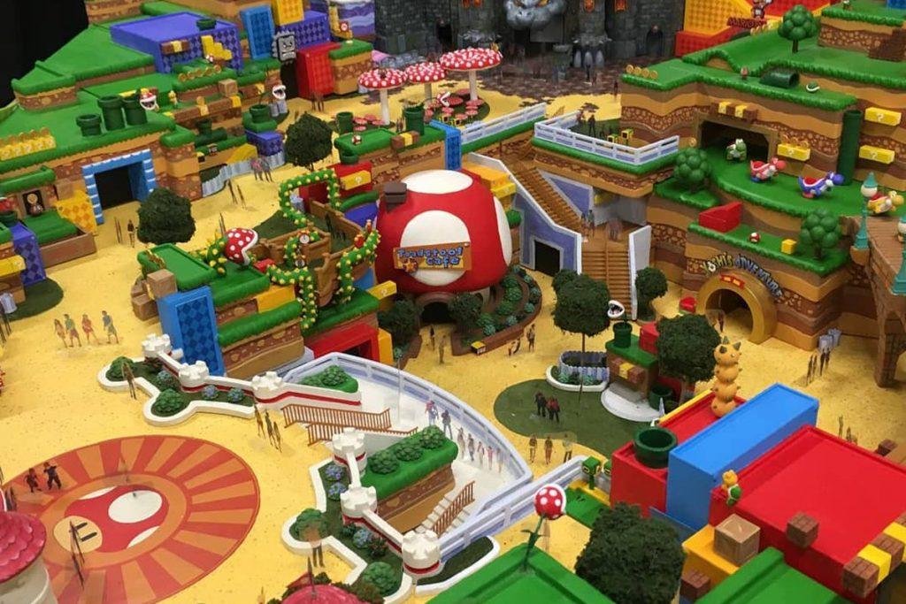 videojuego a tamaño real de super Mario