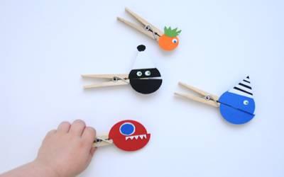 marionetas con pinzas de la ropa para disfrutar en familia de juegos y actividades