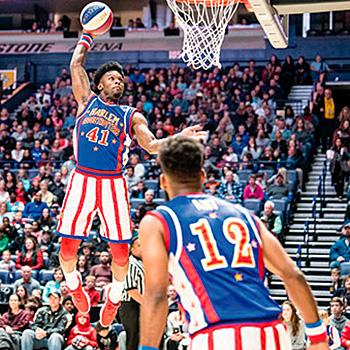 espectáculo de baloncesto y acrobacias con los Globertrotters