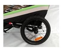 sistemas de protección y reflectantes al rededor de todo el remolque de bicicletas