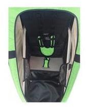 Remolques de bicicleta con un amplio habitáculo y con cinturón de seguridad acolchado para una mayor comodidad y seguridad del peque